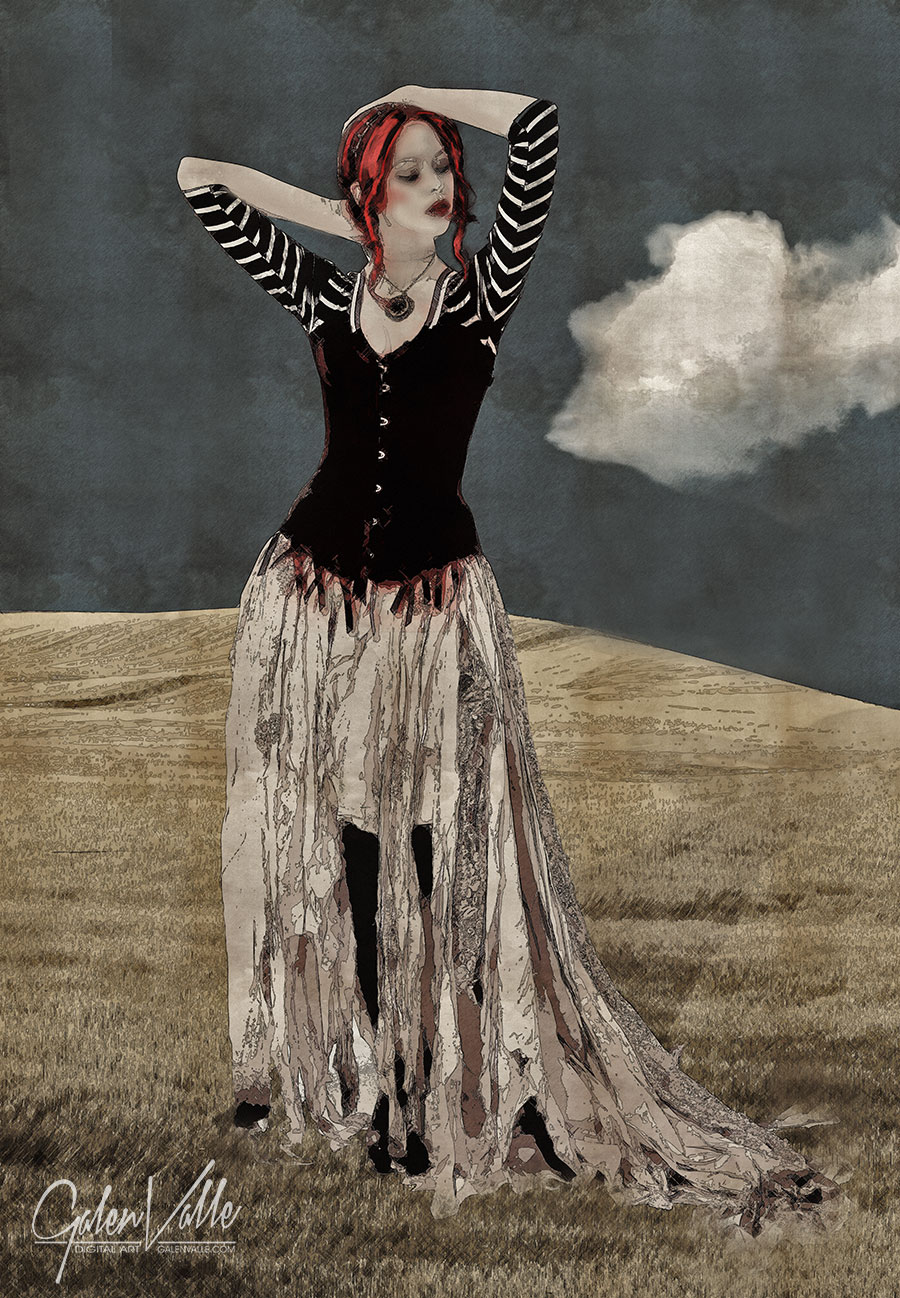 Gypsy Afternoon - Digital new media art by Galen Valle