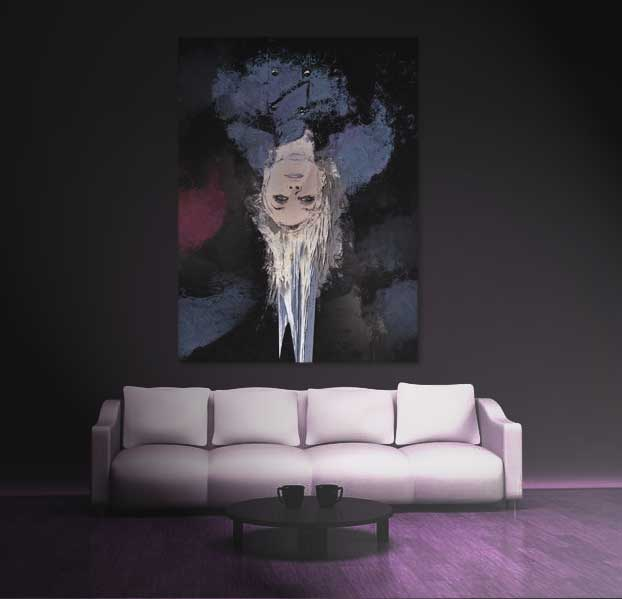 Drip Abstract Wall Art by Galen Valle