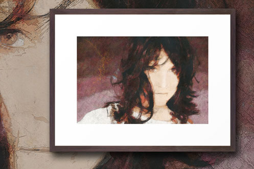 Sanguine- Framed New Media Art Portrait for Sale