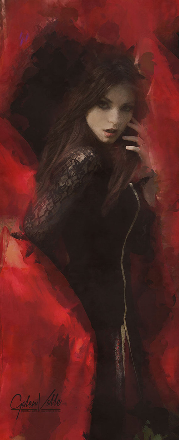 Cardinal - Portrait in red by Galen Valle