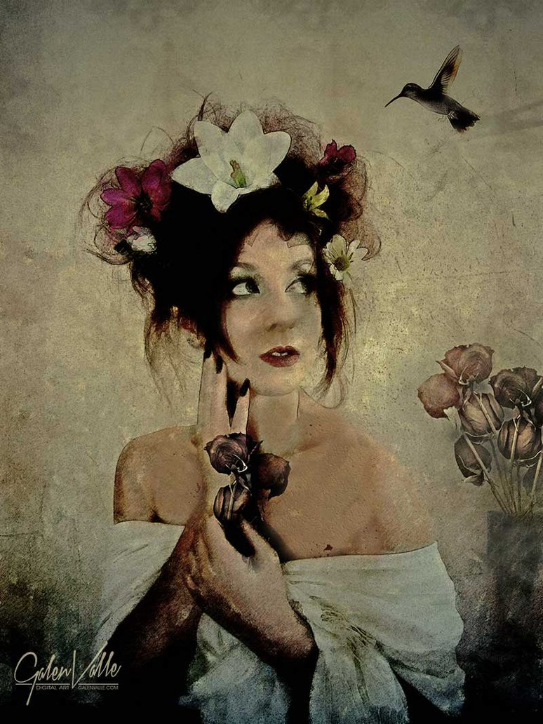 Banquet Unexpected - Whimsical portrait art by Galen Valle