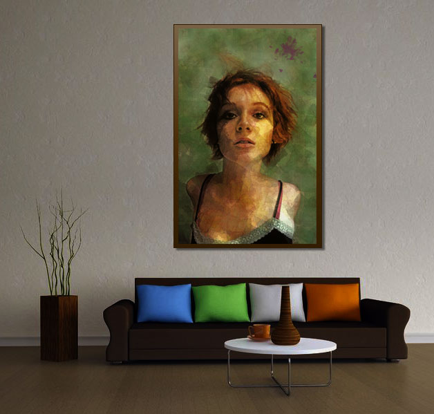 Composure - Digital Mixed Media Portrait Wall Art by Galen Valle
