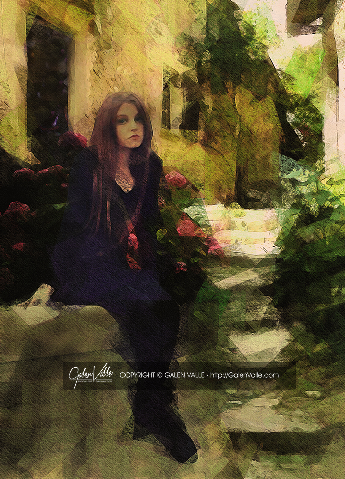 Because Melancholy - Digital Impressionism by Galen Valle