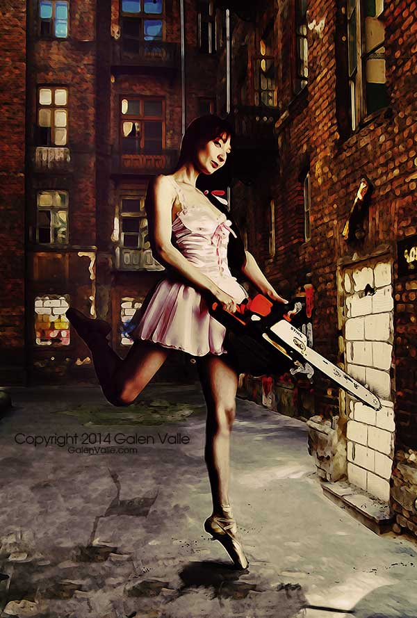 Unchained Melody Urban Surrealist Chainsaw Dancer by Galen Valle