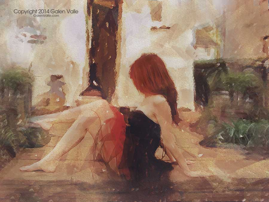 Backdate - Digital mixed media impressionism by Galen Valle