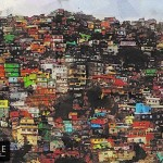 Rio Favela Abstract Mixed Media