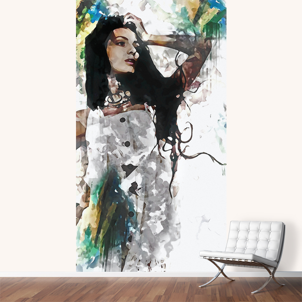 Wonder Abstract Portrait Art Mural by Galen Valle
