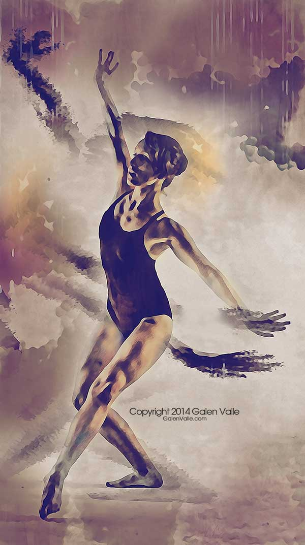 Shadow Dance - Contemporary Dance Art  by Galen Valle