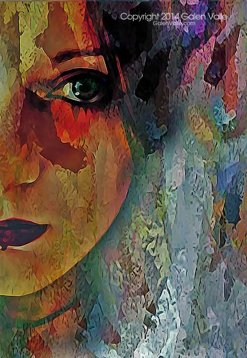 The Other Left - Contemporary Abstract Portrait by Galen Valle