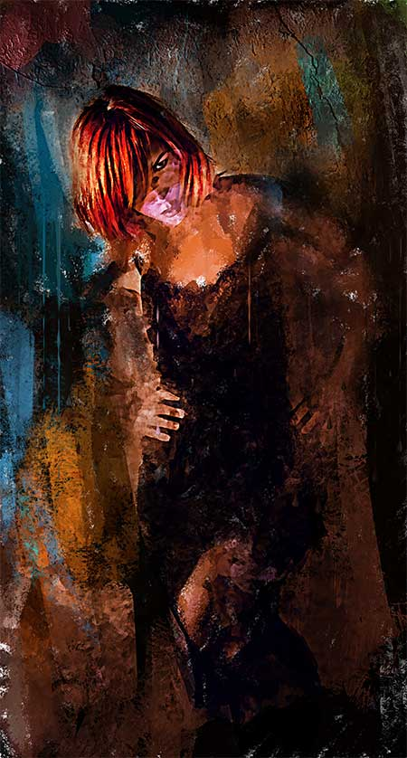 Departure - Redhead Figurative Expressionism Art Print by Galen Valle