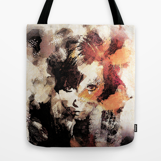 Bandwagon Abstract Portrait Tote Bag by Galen Valle