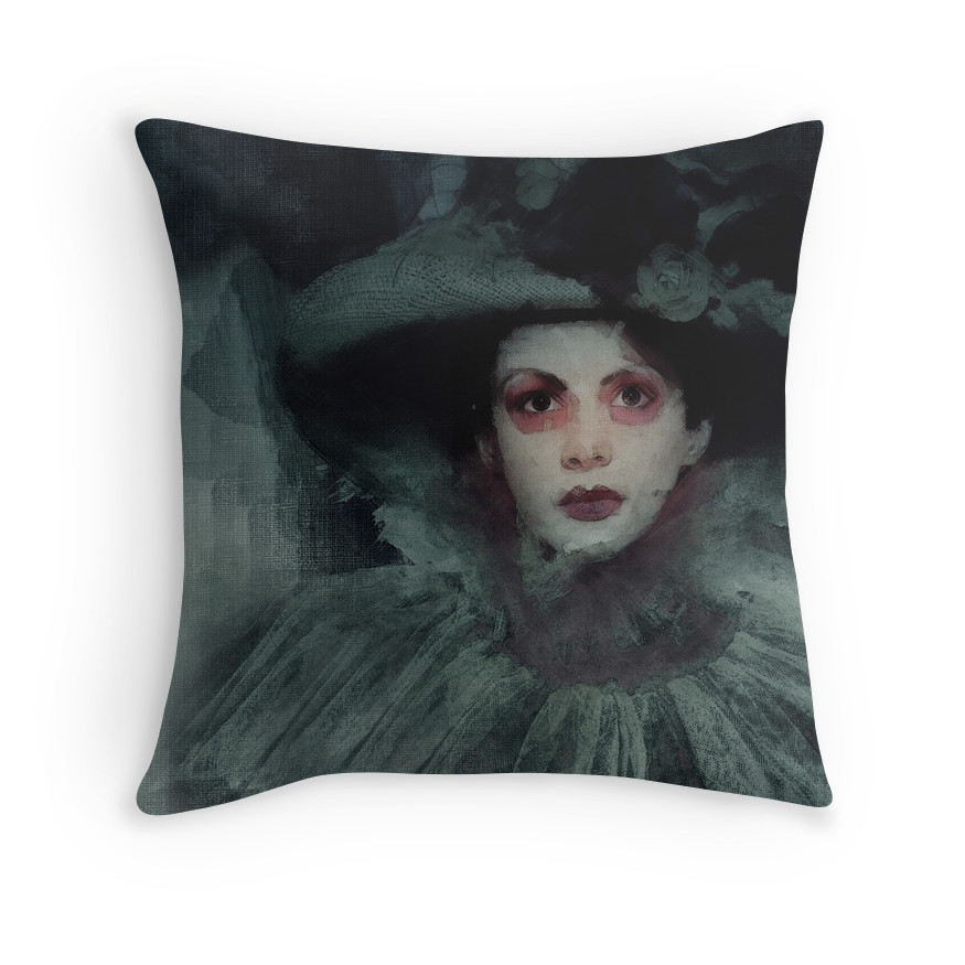 """Revenant Shade - Dark Fantasy Art"" Throw Pillows by Galen Valle"