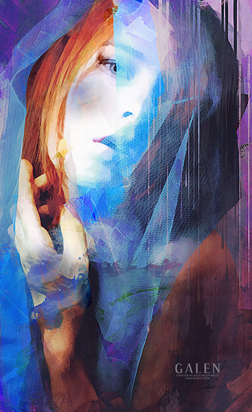 Shroud - Abstract Conceptual Portrait by Galen Valle