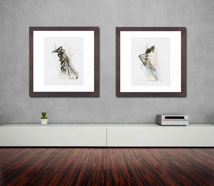 Drift Two aerialist wall art by Galen Valle