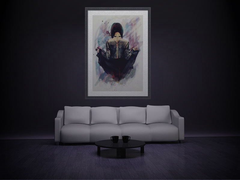 Gothic Angel Wall Art by Galen Valle