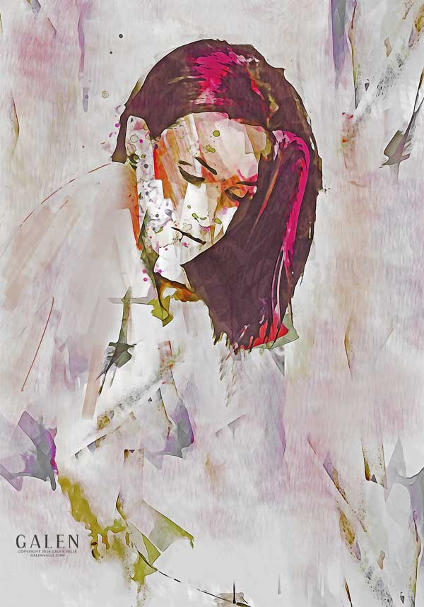 Contemporary Abstract Portrait Art Print by Galen Valle
