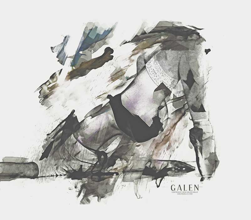 The Dancer - Abstract Art Print by Galen Valle