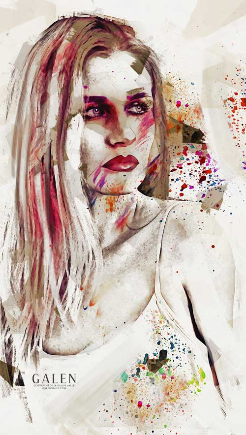 Taction - Contemporary Abstract Portrait by Galen Valle