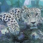 Leopard Abstract Art Print by Galen Valle